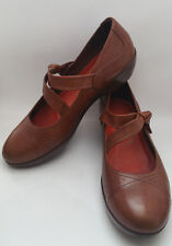 DANSKO Womens 12.5 / 13 US,43 EU Brown Leather Mary Jane Shoes Clogs Flats CUTE!