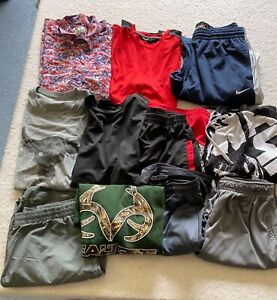 Lot of Men's Clothes Size Large Under Armour Real Tree Nike Star Wars Reebok