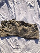 lot of 3 girls' Lands' End khaki skorts -sizes 6-7