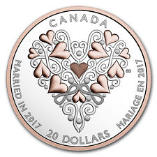 2017 Canada 1 oz Silver $20 Best Wishes on Your Wedding Day