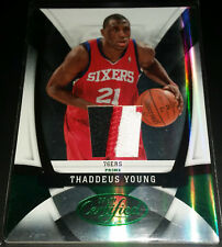 Thaddeus Young 2009-10 Certified MIRROR EMERALD MATERIALS PRIME GU Patch (#2/5!)