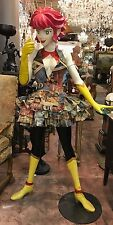 Life Size Japanese Comic Girl 5 Feet Tall All Made Out Of Wood  Very Heavy