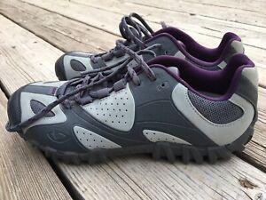 Giro Sage Gray Purple Mountain Bike Cycling Shoes Size 5.75 US 37 EUR Women's