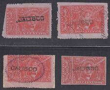 MEXICO, 1892-93. Revenue Jalisco Renta JA75-78, Used-Mint