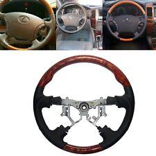 Grau Leder Holz Lenkradbezug für 95-99 W210 S210 E300 430 E50 AMG W202 C180 C280