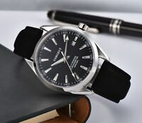 Military 41mm corgeut black dial sapphire glass sea-gull Automatic mens Watch