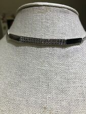 Touchstone Crystal Pave Crystal Choker Necklace Retail $79