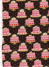 michael miller ~ BIRTHDAY CAKE ~ fabric celebrate pink candle retired
