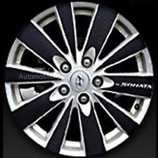4D Real Carbon Wheel Mask Decal Sticker For Hyundai NF Sonata