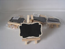 5 Stück Sitzplatz Schild, ca. 8,5 cm hoch, Holz, Hochzeit, Feier, Platzkärtchen