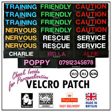 More details for dog harness tag label truelove custom name veicro patch personalised flag puppy