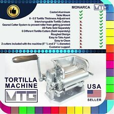 "Roller & Crank Tortilla Machine – NOT MONARCA - 5""½, 3""½ and 6"" diameter"