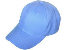1 Dozen Wholesale Sky Blue Baseball Hats Hat Acrylic & Adjustable | Embroider