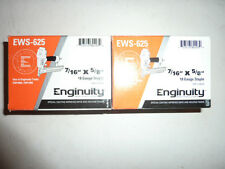 """enginuity by paslode 7/16"""" crown 5/8"""" leg  18 GUAGE FINISH STAPLES 10,000 COUNT"""