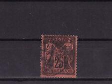 timbre France  Sage   25c   noir sur rouge   num: 91    oblitéré
