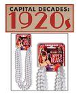 Charleston Pearl Bead Necklace Flapper Great Gatsby 1920s Fancy Dress Moll