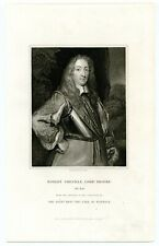 Robert Greville, Lord Brooke, General/Killed Lichfield Cathedral, Engraving 8198