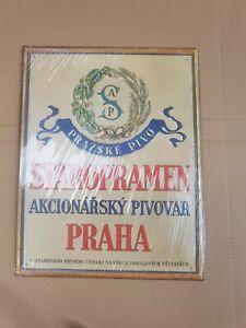 Staropramen metal beer sign praha Czech Republic man cave NEW