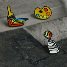 Crative Artist Art Graduation Palette Brooch Paint Brush Enamel Pin Badges N7
