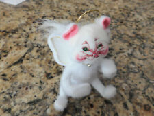 Annalee White Kitty Cat Angel Holiday / Christmas Ornament (2008)