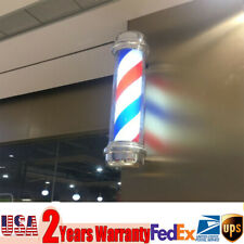 """28"""" Barber Shop Rotating Pole Light Red Blue White Hair Salon Sign Fashionable"""