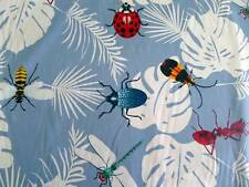 Hawaiian Print INSECTS Cotton Fabric Per Yard,  Light Blue by Trendtex