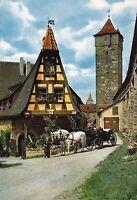 Rothenburg ob der Tauber , Alte Schmiede mit Wehrgang , Ansichtskarte