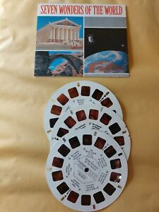 1970's Seven Wonders of the world VIEWMASTER 3 Reels & card BB-901