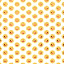 Printed Bow Fabric A4 Canvas Sun Smiling Summer time SM10 Make glitter bow