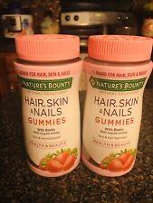 2 Nature's Bounty Hair Skin & Nails Gummies With Biotin 2500 mcg 80ct  EXP 09/20