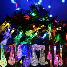 5m 30 Led Outdoor Solar Powered String Light Garden Christmas Party Fairy Lamp