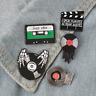 Retro Music Video Film Vintage - Enamel Pin Pins Badge Badges - Funny Quotes