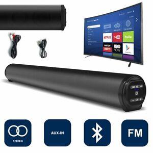 TV Soundbar Bluetooth 5.0 Lautsprecher Stereo Subwoofer FM Radio AUX TF Soundbox