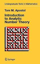 Introduction to Analytic Number Theory by Tom M. Apostol (Hardback, 1998)