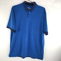 Nike Golf Mens Shirt Tour Performance Dri Fit Polo Blue Size L Large