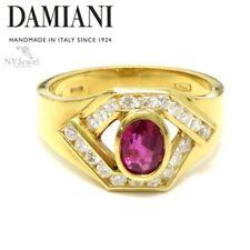 NYJEWEL Damiani 18k Yellow Gold 1.2ctw Ruby & Diamond Ring