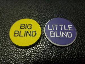 Poker Big Blind Little Blind Buttons, small blind professional quality!