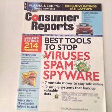 Consumer Reports Magazine Viruses Spam Spyware September 2006 060517nonrh