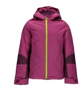 Spyder Kids Bitsy Charm Snow Jacket,Ski Snowboarding Jacket,Size M (10/12 Girls)