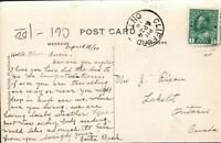 Stamp Cover ONTARIO TOWN CANCEL CLIFFORD Ontario on Postcard, ca1914. ct9