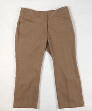 MICHAEL KORS Women's Size 6 Brown Beige Cropped Capri Stretch Career Business