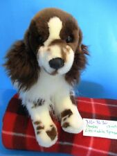 Douglas Liver(brown) and White Springer Spaniel beanbag plush(310-3630)