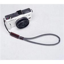 Gris Cámara Nylon Mano Muñeca correa para Canon Nikon Panasonic Sony Fuji Samsung