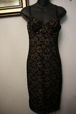VICTORIA'S SECRET BLACK OVER LACE CORSET SHORT DRESS NWT SIZE MEDIUM