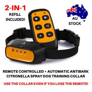 2-IN-1 AUTOMATIC + REMOTE CONTROL DOG TRAINING CITRONELLA SPRAY BARK COLLAR SP13