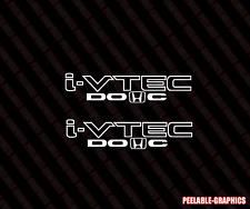 "i-VTEC HONDA LOGO 2 DOHC 9"" Vinyl Sticker Civic Decal si jdm Drift illest Emblem"