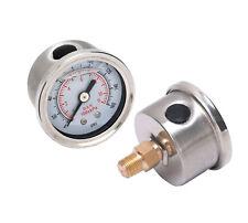 liquid-filled Gasolina REGULADOR manómetro, esfera blanca, 0-160 psi