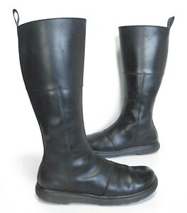 Ladies Dr Martens LAHIRI Black leather knee Length Boots Size UK 6 Great!