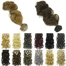 Gewellt Clip In Extensions Dick Haar Haarverlängerung Haarteil Lang Haar Tressen