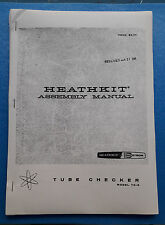 HEATHKIT TUBE CHECKER MODEL TC-3 MANUAL COPIA